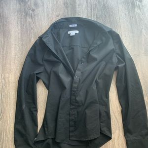 Liz Claiborne Black Button Down Blouse